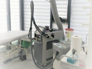 תמונה של פינוי אוויר חם ממכשיר לייזר מסוג ALEXANDRITE – CANDELA