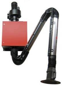 תמונה של מערכת סינון מותקנת על קיר לשאיבת עשן ריתוך מדגם ICAP 2.0